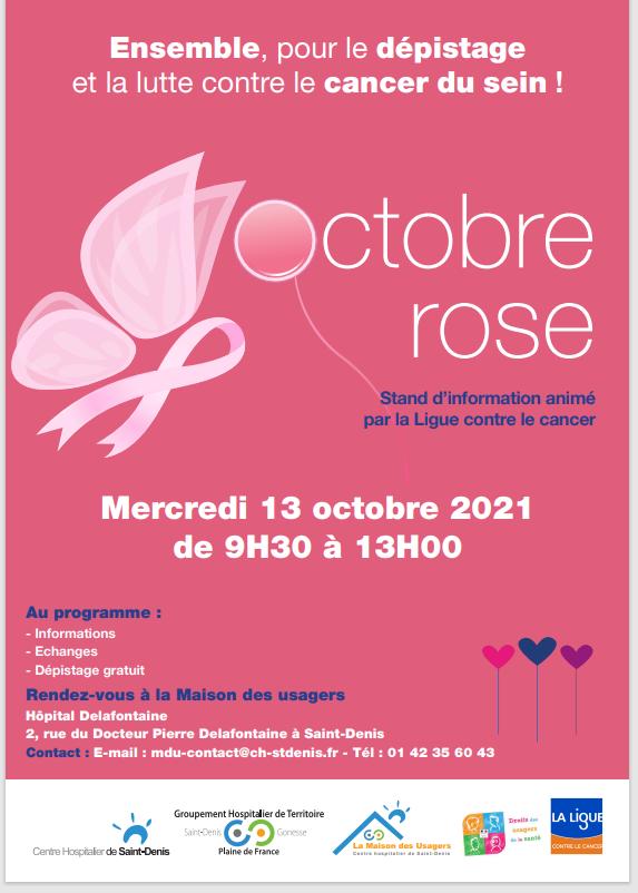 Affiche de la MDU - Journée de prévention Octobre rose
